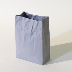 名作花器 new crinkle super bag #1 グレー