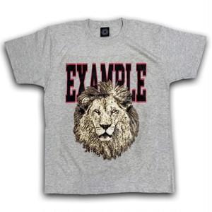 EXAMPLE LION EMBLEM TEE/ASH