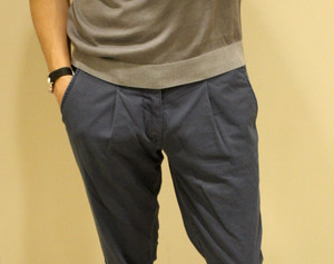 MMX Cotton Stretch Trousers Blue&Grey