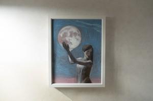 【絵画 油彩】『月詠命』 F6号 額入り