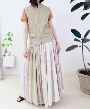Cotton-blend skirt
