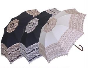 傘 日傘 レディース 手開き アンティークレース刺繍 47cm UVカット