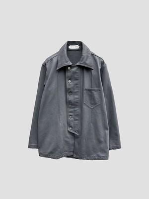 NAMACHEKO MANNI DENIM SHIRT Slate Grey NW21 W420D