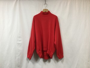 "MAISON EUREKA "" HIGH NECK SWEAT SHIRT "" RED"