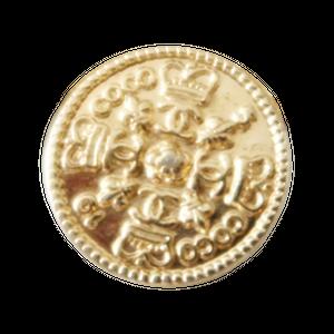 【VINTAGE CHANEL BUTTON】ゴールドココマーク クラウン ロゴボタン 17㎜ C-20015 AB
