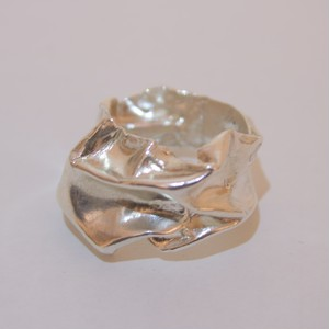 crumpled ring(silver)