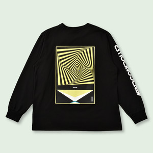 OVERSIZED DELUSION LONG SLEEVE TEE - BLACK
