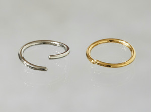 ring body jewelry 16G 14mm/  K18 Yellow Gold, K18 Pink Gold, Pt   #LJ18047P