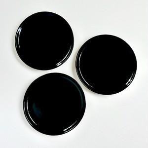 [NO.024] 輪島塗 黒皿/ Wajima Nuri Plate / Meiji Era