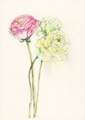 松原容子『3本の花』