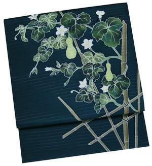夏帯 染名古屋帯「瓢箪に垣根」 仕立て上がり品