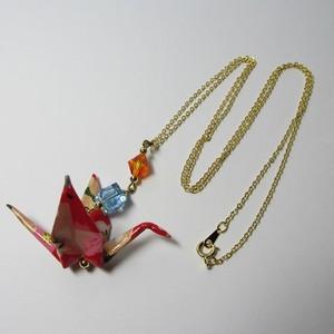 折鶴ネックレス(桐箱付)【AA03-1】
