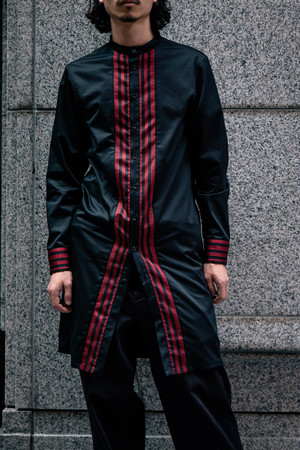 HAKATAORI Band Collar  Long Shirt