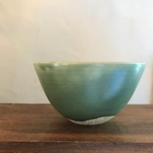 ゆのみ 深緑/ceramic studio Wol