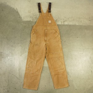 90's Carhartt Brown Duck Double Knee Over All