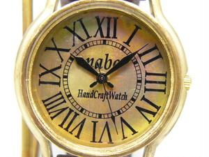 """手作り時計 Hand Craft Watch """"J.B."""" ローマ数字/BR JUMBO Brass [JUM31]"""