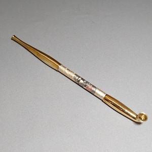 真鍮煙管電鋳仕上げ 風神ゴールド