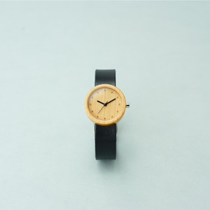 Cherry wood - Organic leather Black - S