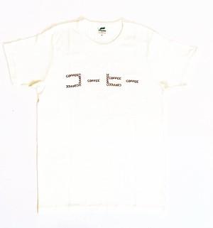 【柔らかい着心地】コーヒーTシャツ バニラホワイト (Q.O.L.オリジナル)受注生産