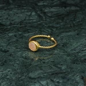 SINGLE MINI STONE RING GOLD
