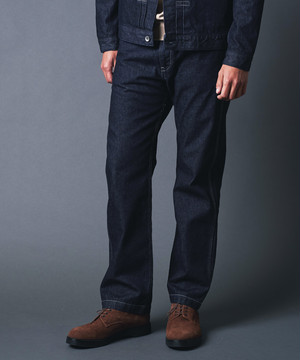 WASHED DENIM UTILITY 5POCKET PANTS