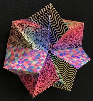 回転折り紙 (万華鏡タイプB)