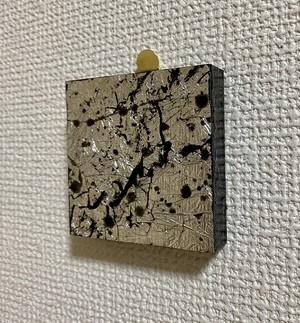 Wood Cube Silver 02【Original】