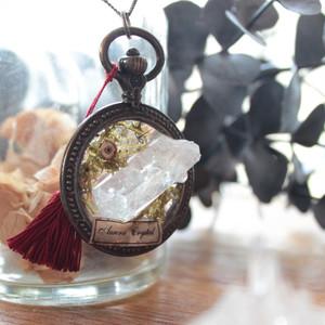 鉱物の標本ネックレス_極光水晶【恒久の装身具】