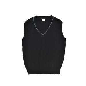 Allege Hand Stich Knit Vest Black  AH19S-KN04