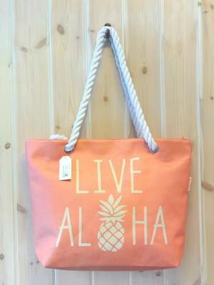 ハワイ限定商品を安心の国内配送で!ロープハンドルが可愛いハワイアンBIGトートバッグ
