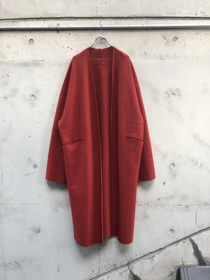 【VOAAOV】 wool long cardigan「RED」