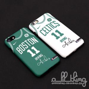 「NBA」ボストン セルティックス 2017-18シーズン 新ユニフォーム カイリーアービング サイン入り iPhoneX iPhone8 ケース