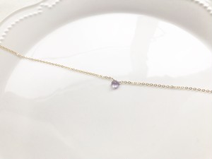14kgf pink amethyst necklace