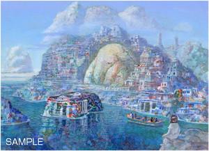 井上直久『石造復元都市』版画