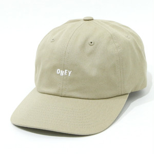 JUMBLED 6 PANEL STRAPBACK (KHAKI)