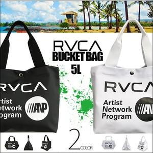 BA041-969 ルーカ 新作 メンズ ハンドバッグ BUCKET BAG5L ブラック ホワイト ロゴ 人気 ブランド 男性 通勤 カバン 鞄 プレゼント RVCA