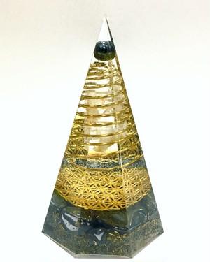 ⑳~図形の内なるエネルギー~ Octagonal pyramid Communication deviceオルゴナイト(八角錘 Mサイズ)