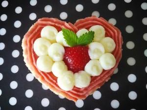 お名前入りプレート付き★犬用ハートケーキ