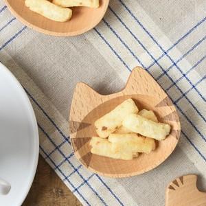 木製猫まめ皿