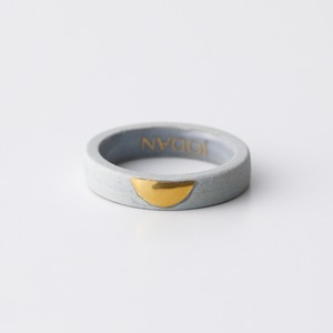 JODAN. aroma ring___Light Gray(half moon)香りを染み込ませるアロマリング