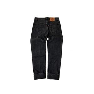 """90's """"LEVI'S / 501"""" (33×34) BLACK DENIM PANTS"""