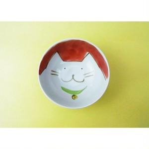 有田焼 子供茶碗 ネコ [小茶付]