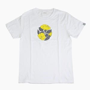 アカバナーのTシャツ (白×黄)