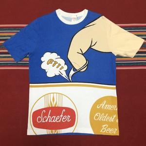 90's ビンテージ アメリカビールプリント Schaefer Beer ビッグサイズ ビッグロゴ Tシャツ Made in USA