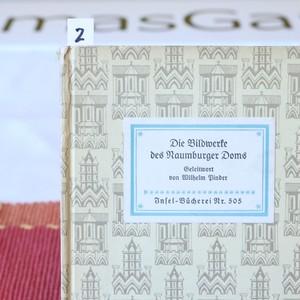 【BK2002-505-2】ヴィンテージ図鑑 インゼル文庫Nr.505  Die Bildwerke des Naumburger Doms/Jahn ナームブルグ聖堂の芸術