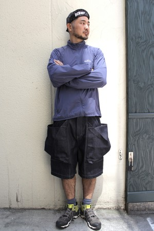 TROVE x 岡部文彦 / BIG BIG POCKET SHORTS ( WIDE SILHOUETTE DENIM ) / INDIGO