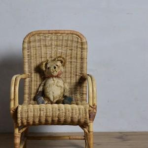 Kids Rattan  Chair / キッズ ラタン チェア 【B】〈キッズチェア・子供椅子・籐・店舗什器〉112060