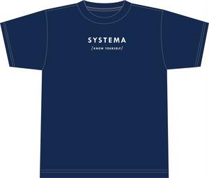 SYSTEMA-KNOW YOURSELF オーガニックコットンシャツ【navy】