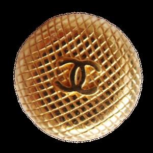 【VINTAGE CHANEL BUTTON】 ダイヤ柄 ゴールドココマーク ボタン 18mm C-20059