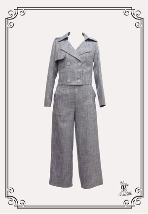 【セットアップ】Classic Short Jacket & Wide Pants / ミニ丈ジャケット&ワイドパンツ